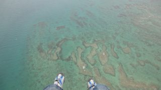 Let's see the Okinawa beach from the sky, Motor araglider [With videos]