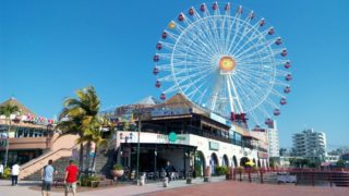 Chatan Mihama American Village beautiful beach, cafe and shopping a lot