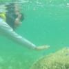 "Okinawa beach children can also swim with tropical fish together ""Bisesaki Beach"""