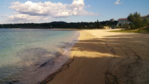 Okinawa beach which is perfect for walking even in winter, Hamabaru beach in Onna village
