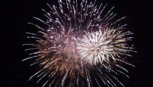 Ocean Expo Park fireworks display at 2017, introducing fireworks videos in the front row