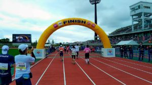 I participated in the Okinawa marathon in 2019! I could finish!