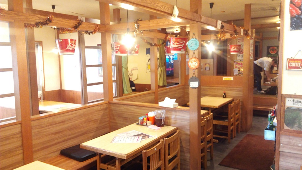 In-store picture of the Haebaru dining hall