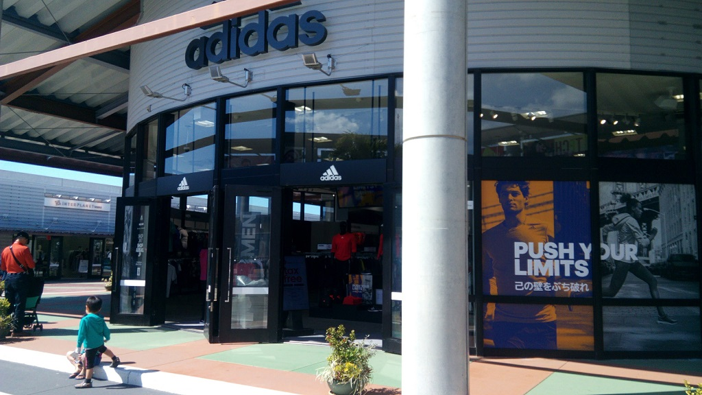 adidas shop in Okinawa outlet mall ASHIBINAA