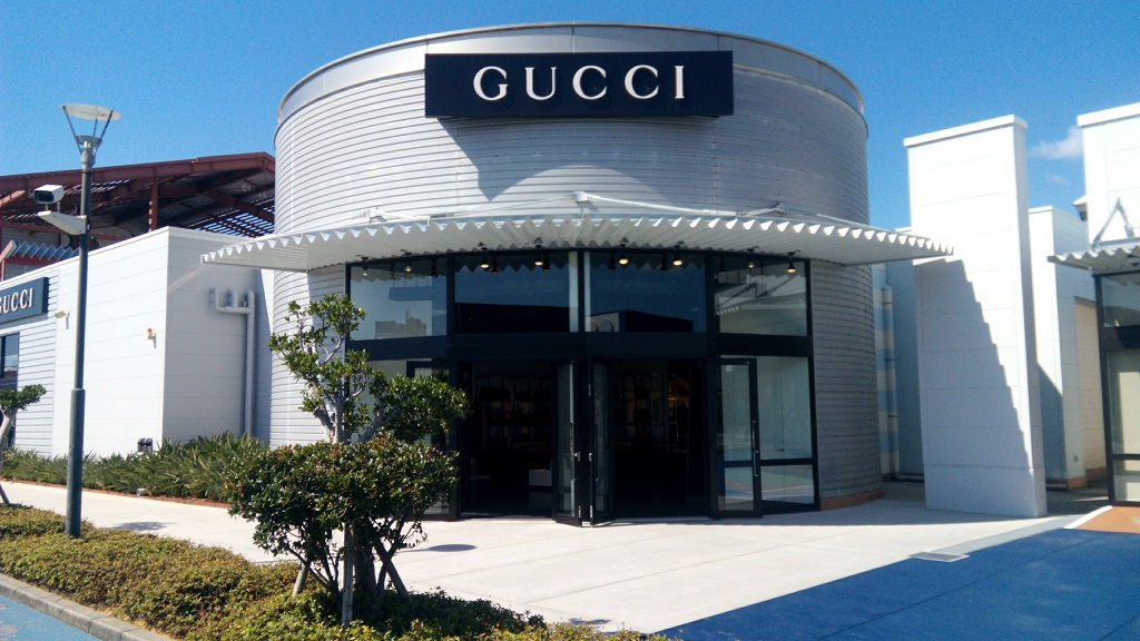 GUCCI shop in Okinawa outlet mall ASHIBINAA