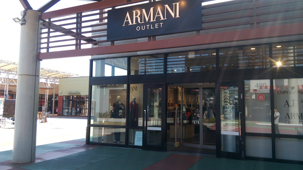 ARMANI shop in Okinawa outlet mall ASHIBINAA