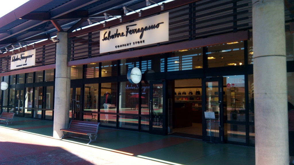 Salvatore Ferragamo shop in Okinawa outlet mall ASHIBINAA