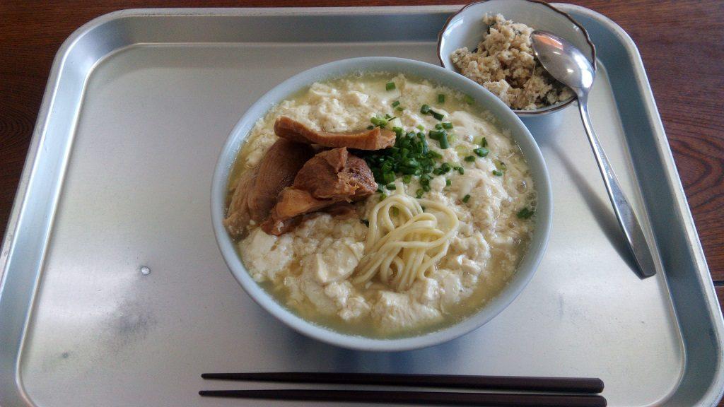 Yushi tofu soba of Kaiyou Shokudou