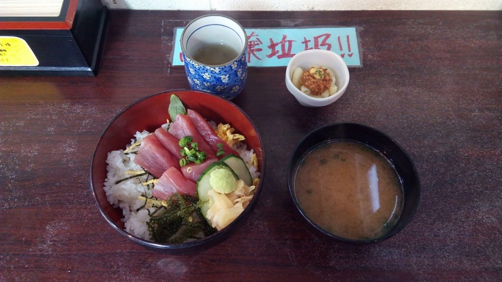 Tuna rice bowl of Maguroya Honpo
