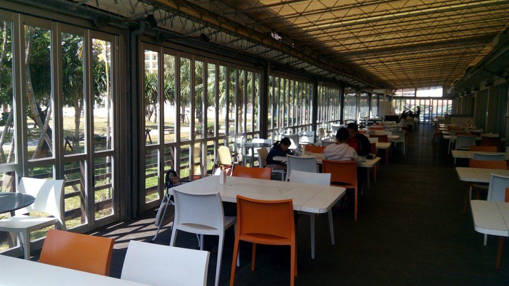 Terrace seating in Chura Tida