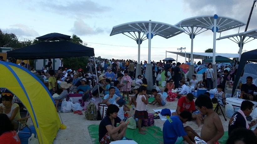 海洋博記念公園花火大会の様子2