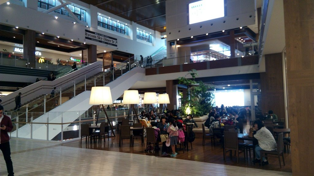 food courts on the 3rd and 4th floors