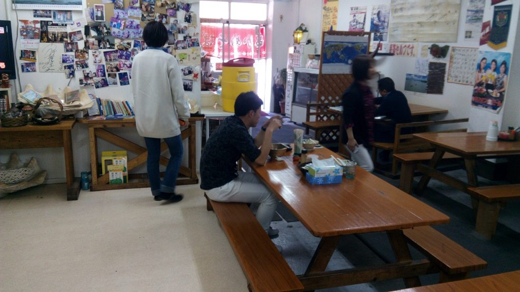 Inside the shop of the KameKame Soba