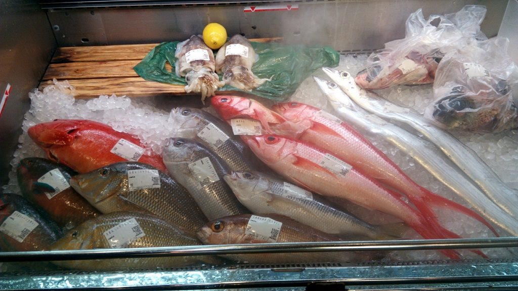 泊いゆまちで売られている新鮮な魚2