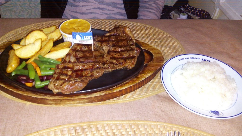 ribulose steak with rice