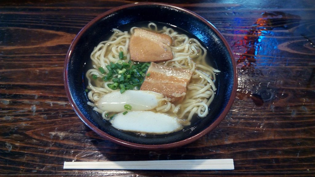 Okinawa soba with light taste