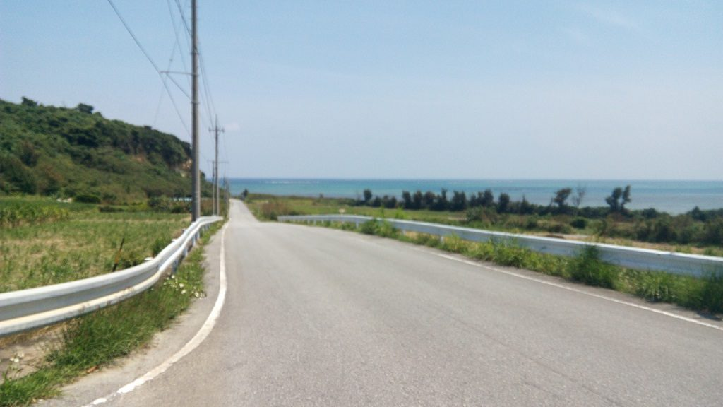 Driving scenery of Henza-jima Island 1