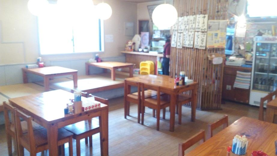 田そばの店内写真