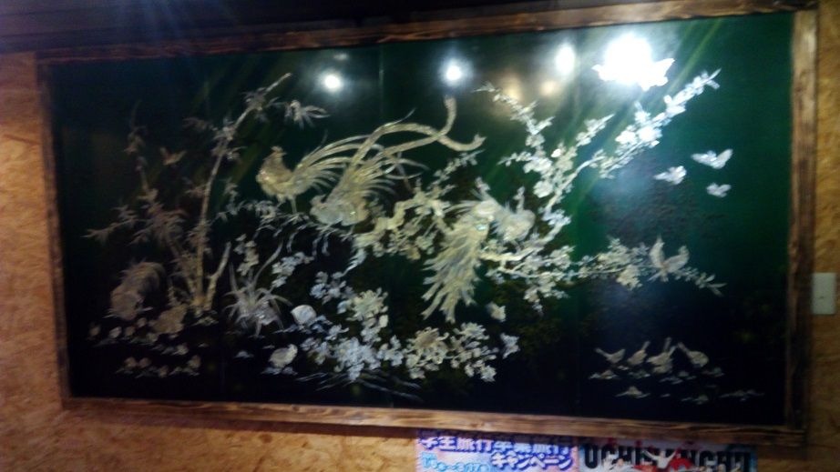 Painting decorated in the store