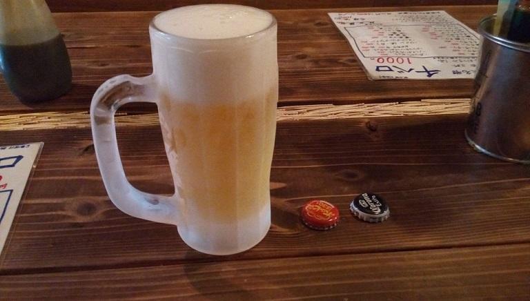 センベロの生ビール
