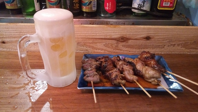 Beer and Yakitori set