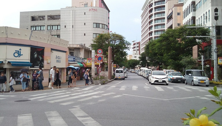 Kadoya is on the T-junction where International street
