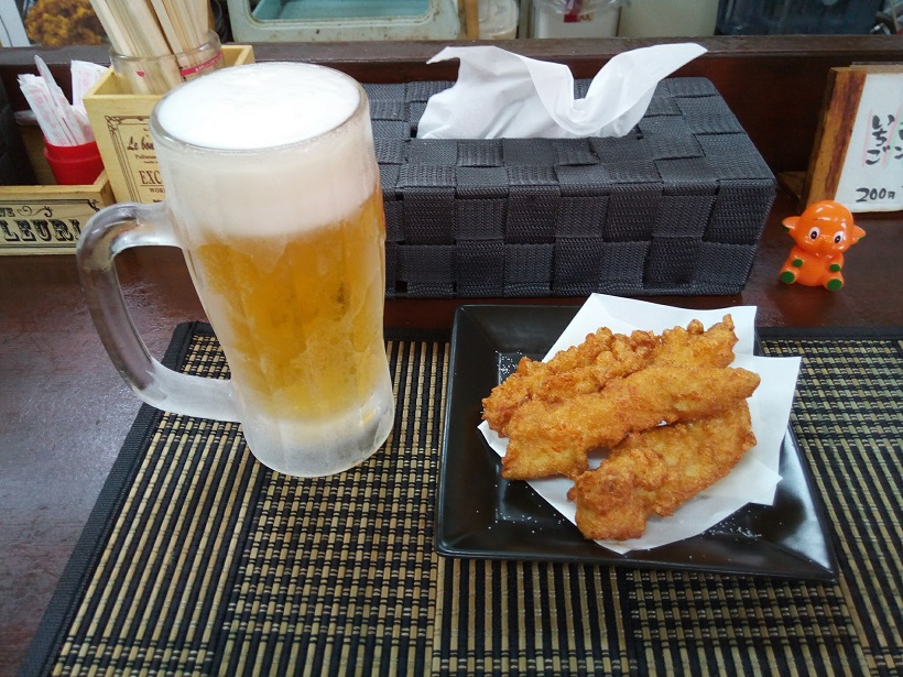 fried chiken and beer