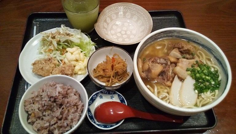 Komiya soba set meal