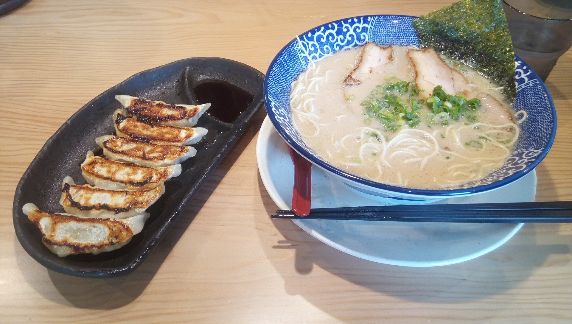 Hakata Tonkotsu Ramen and dumplings