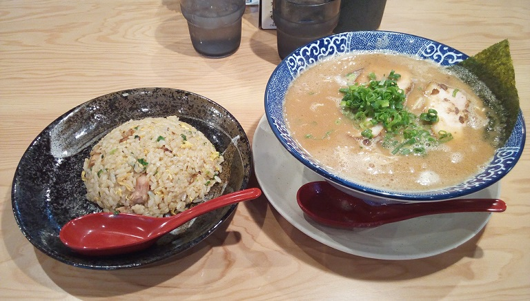 Miso Tonkotsu Ramen and fried rice