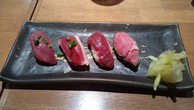 Assorted red meat sushi