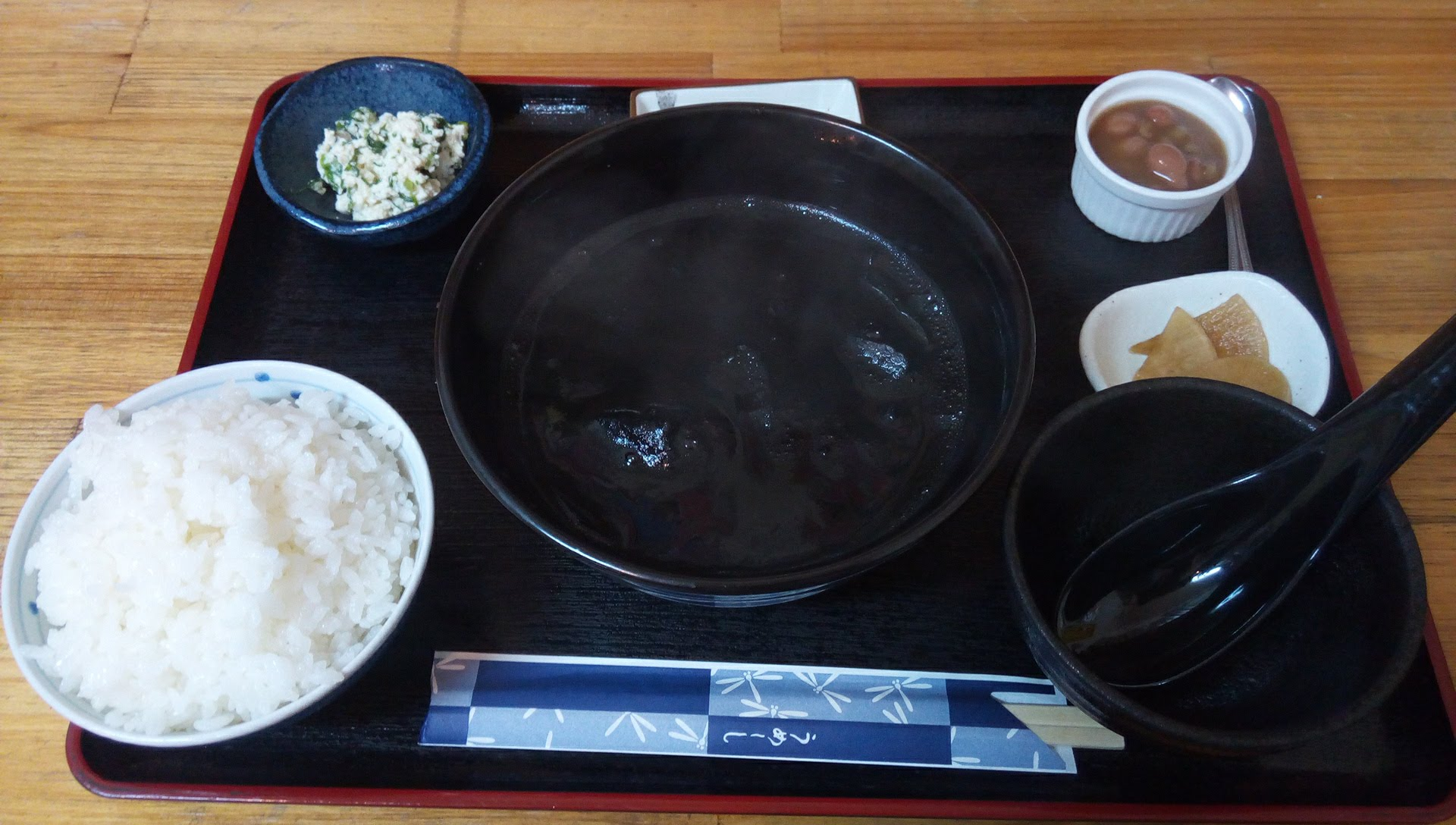 Ikasumi soup set meal