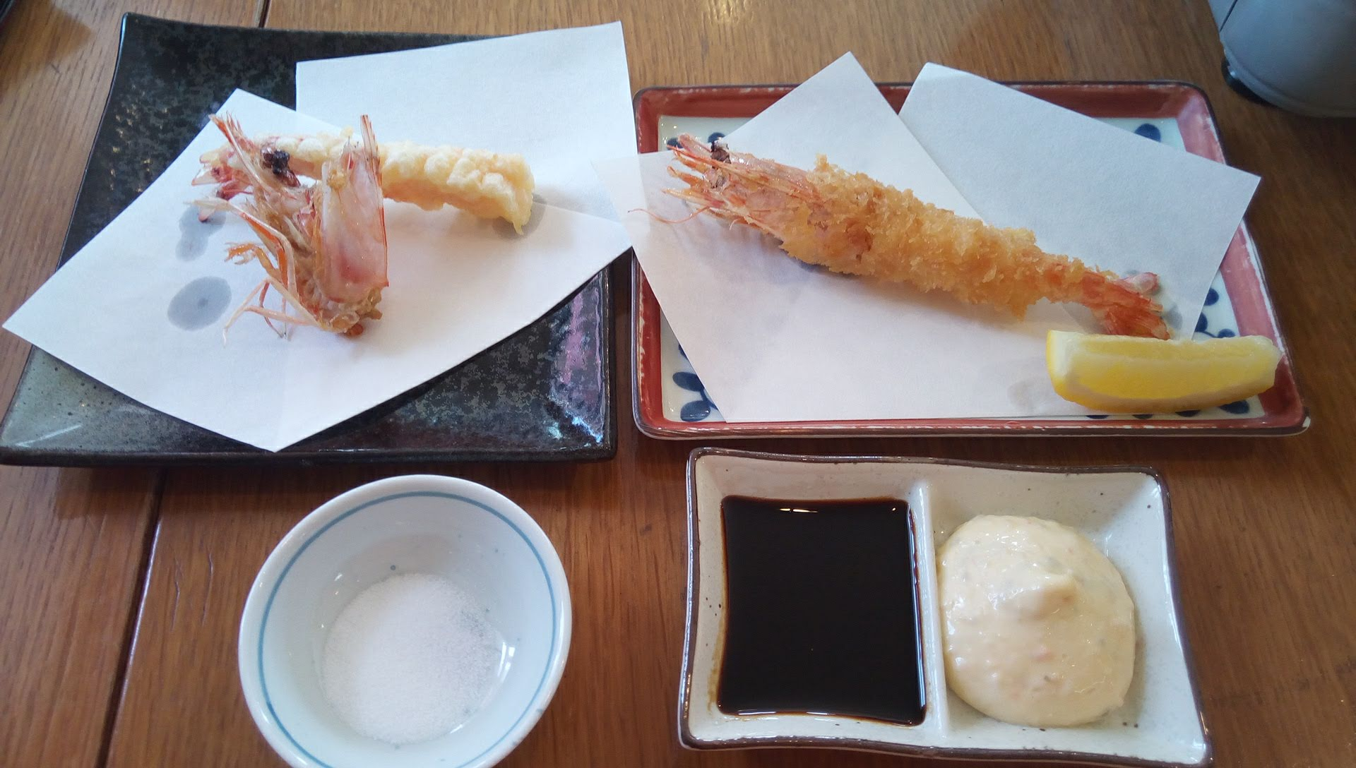 fried and tempura of shrimp