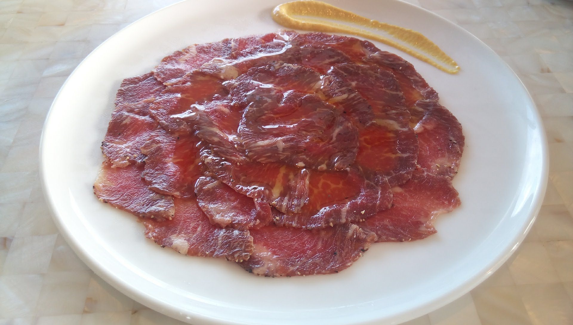 Homemade bleozala of Iejima beef width=