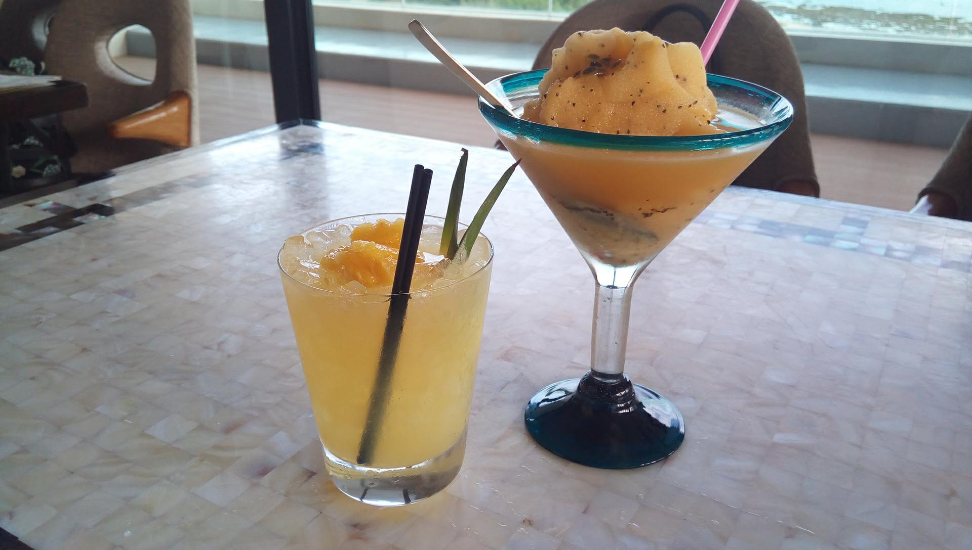 Capirosska of Shikuwasa and pineapple on Ogimi village and Okinawa passion fruit virgin frozen