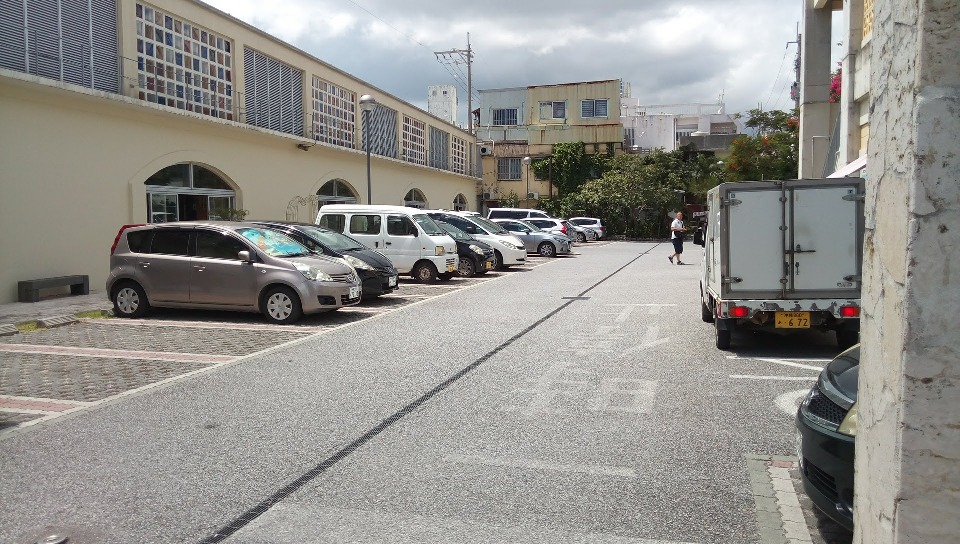 Parking places in Nago City Municipal Market