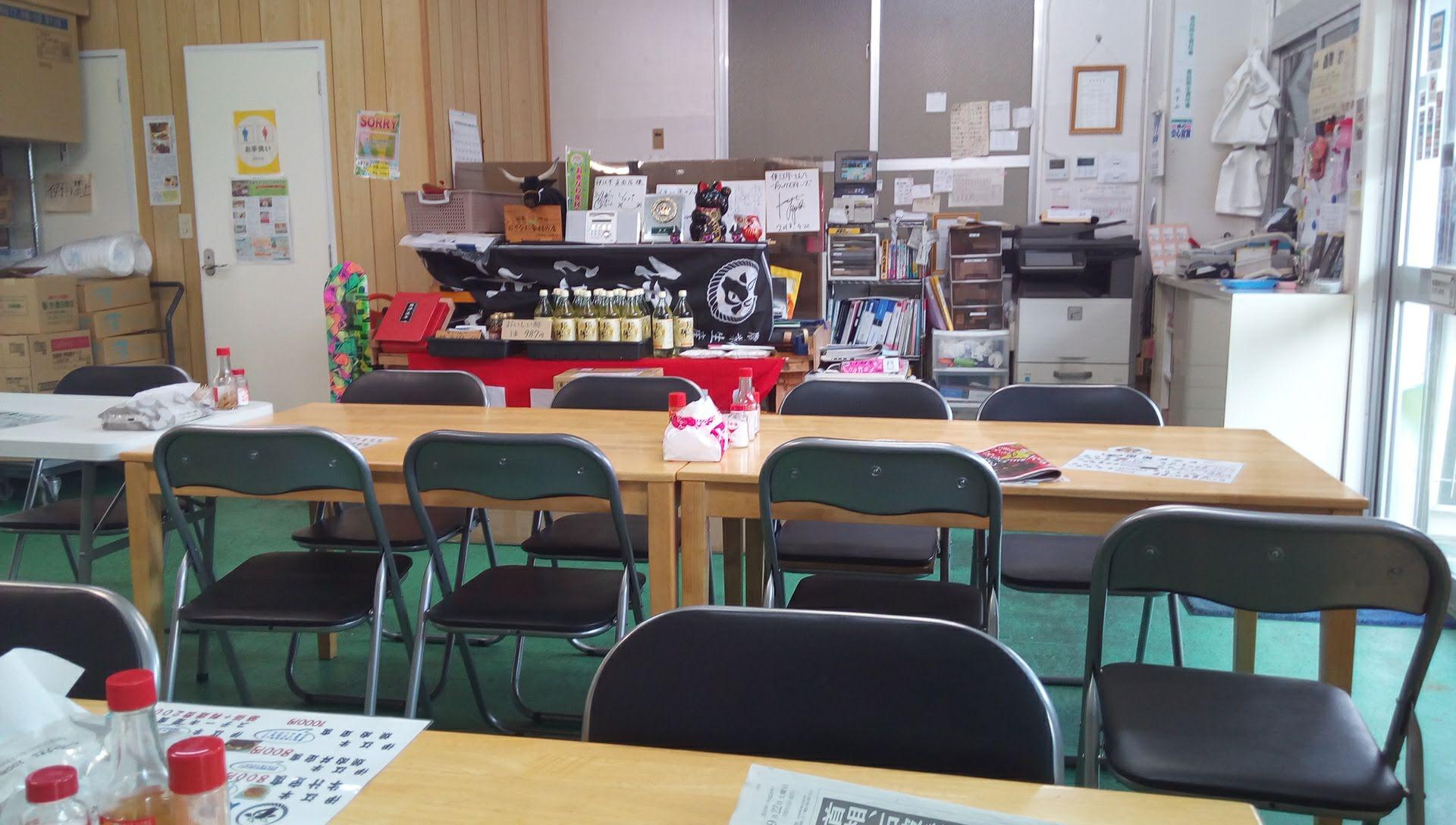 伊江牛直売店の店内写真