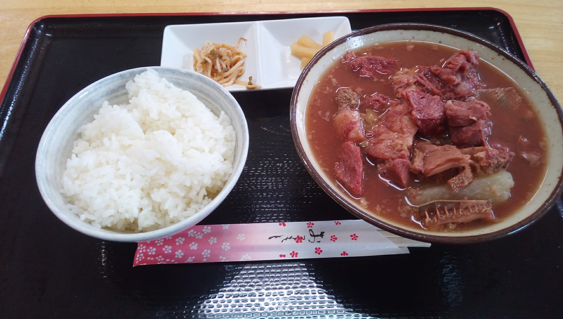 Beef soup food set
