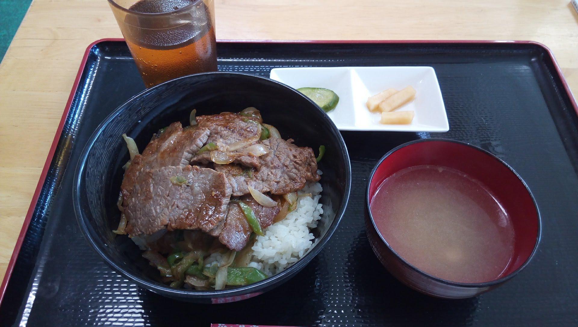 伊江牛ステーキ丼定食