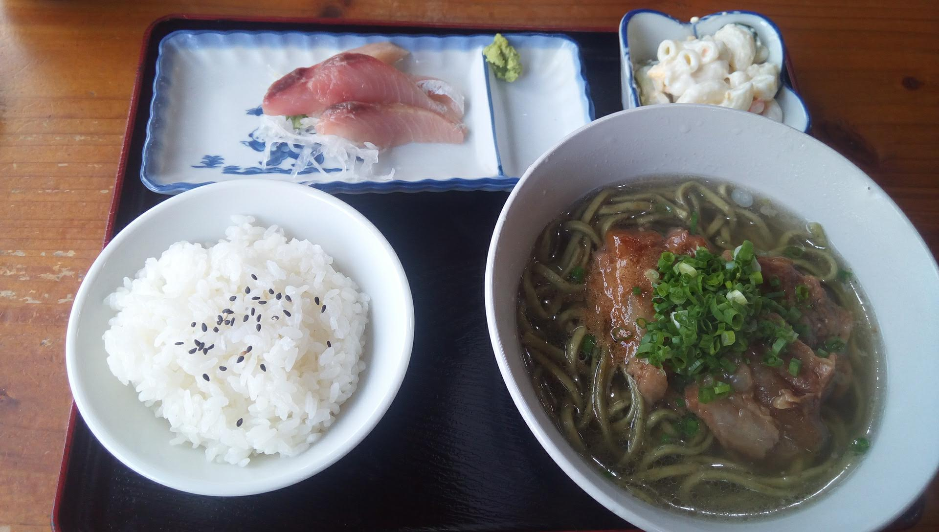cartilage Okinawa soba set