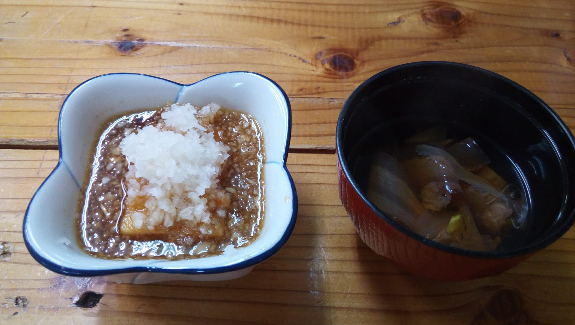 fried tofu and bonito soup