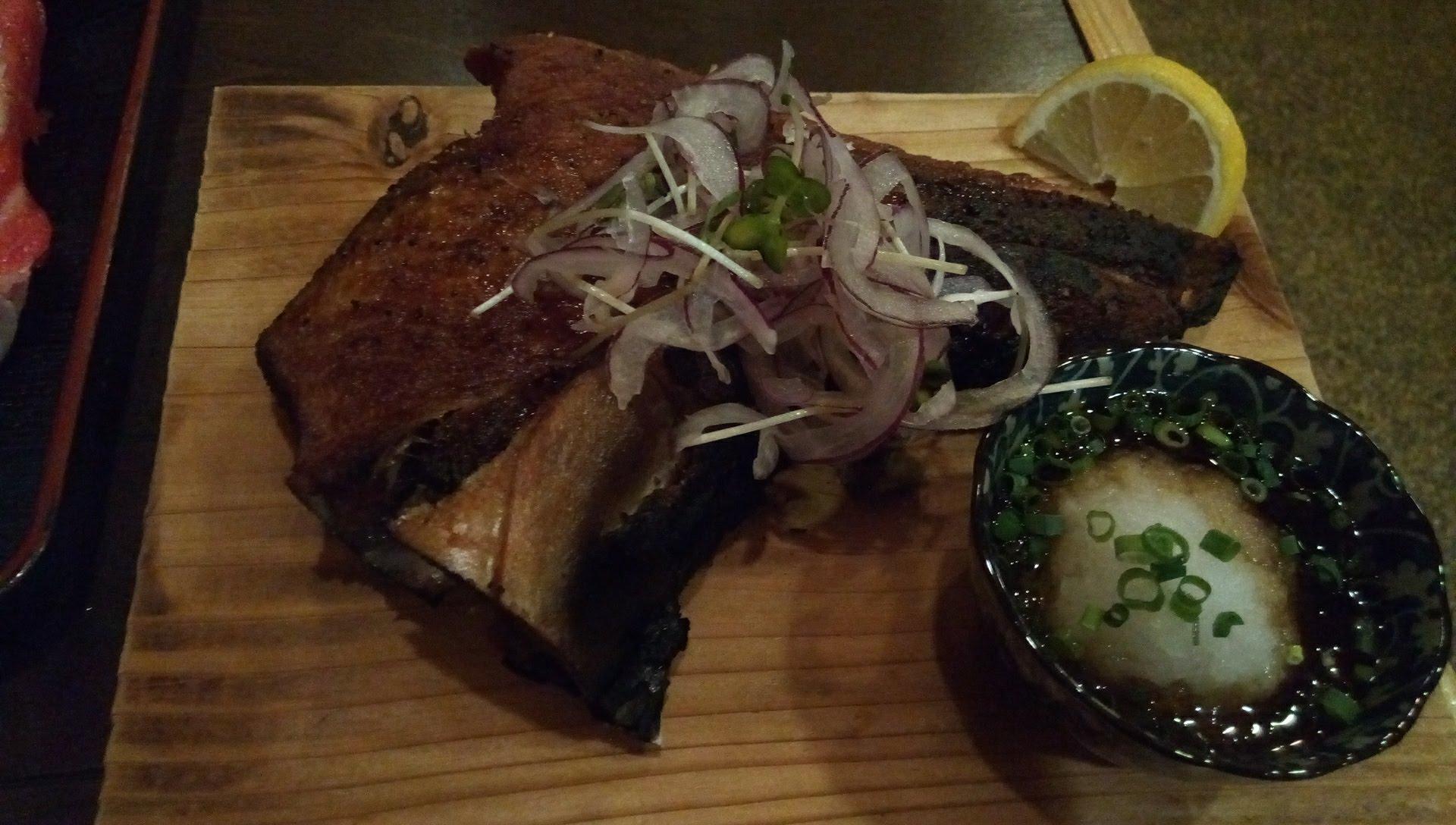 Kamatoro of tuna grilled