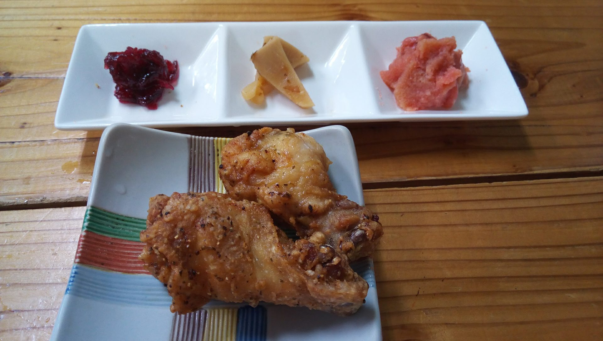 fried chicken and appetizers
