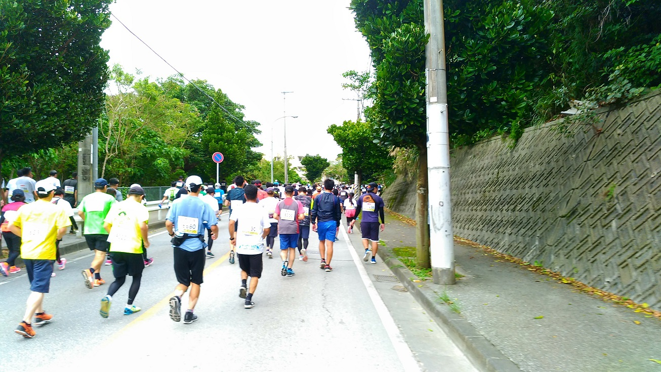about 11 km from the start, the first uphill
