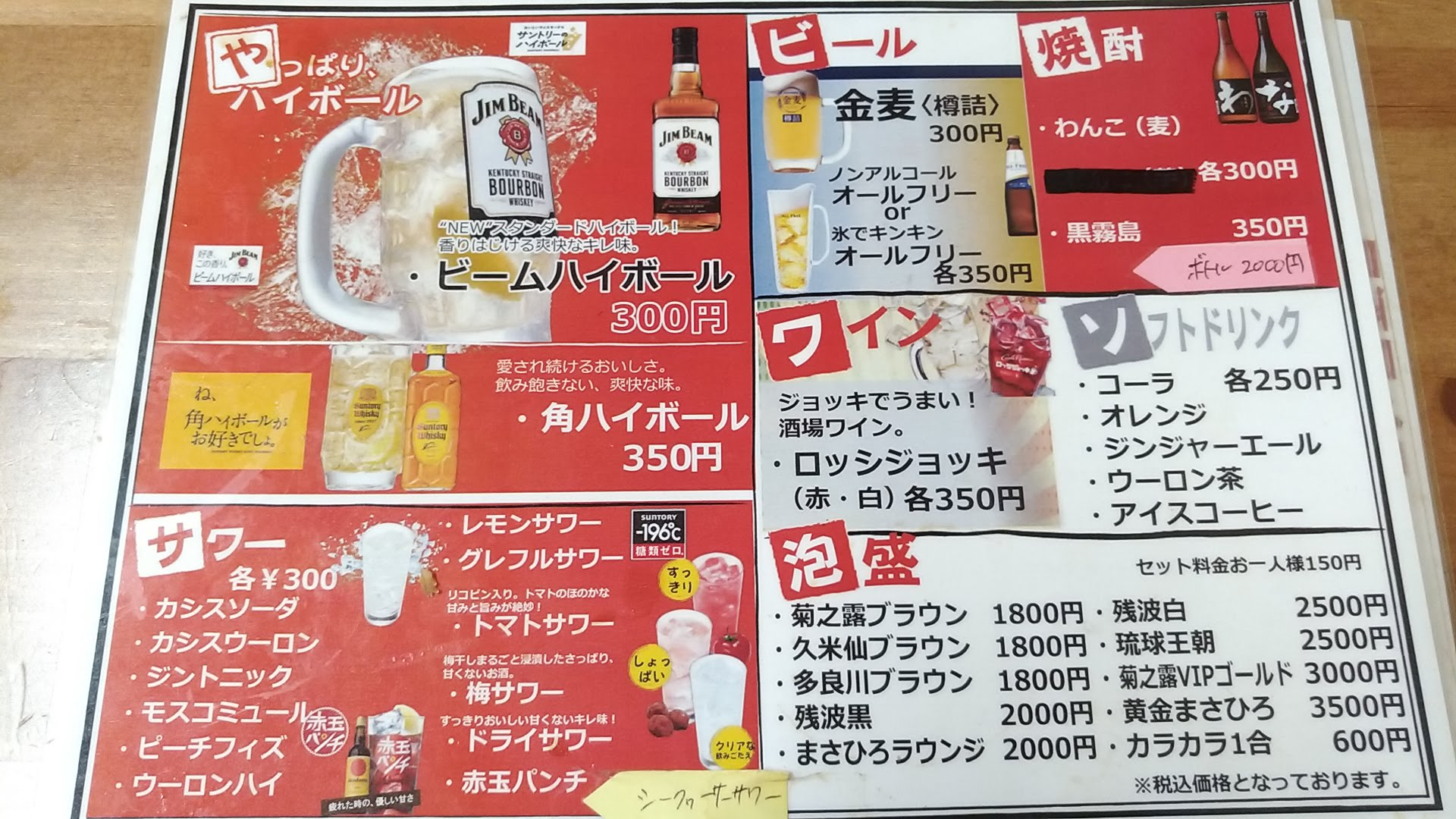 drink menu of Shintenchi
