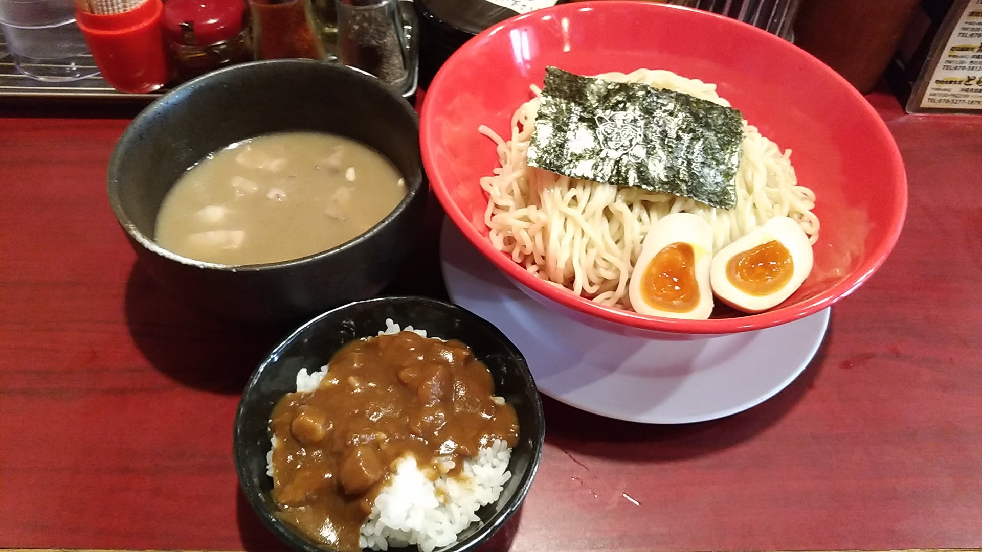 Tsukemen and curry