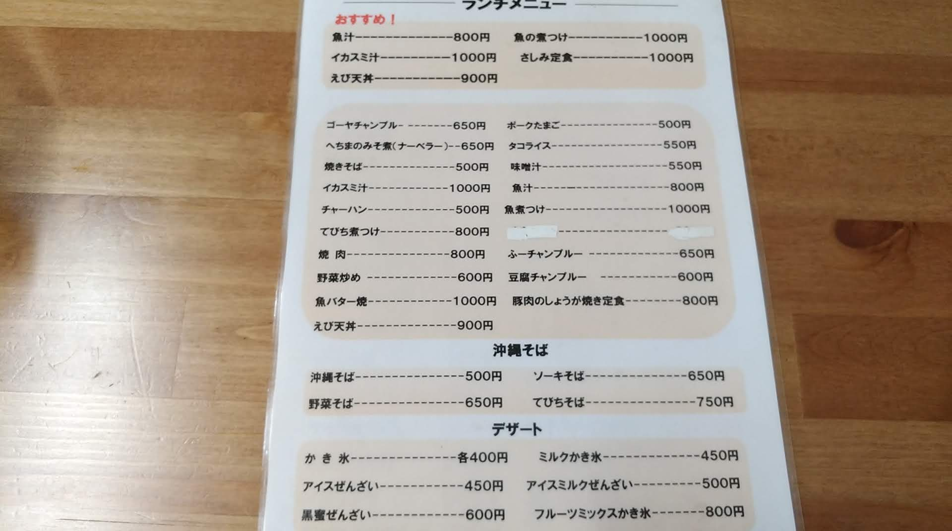 lunch menu of Shintenchi