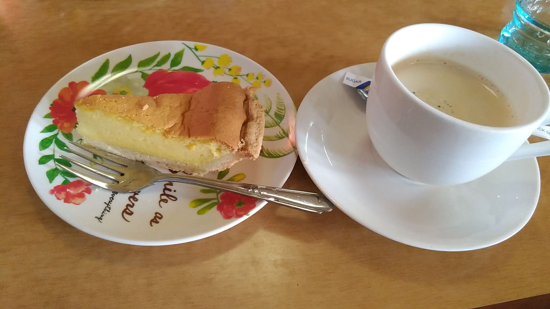 delicious homemade pie and coffee after meals