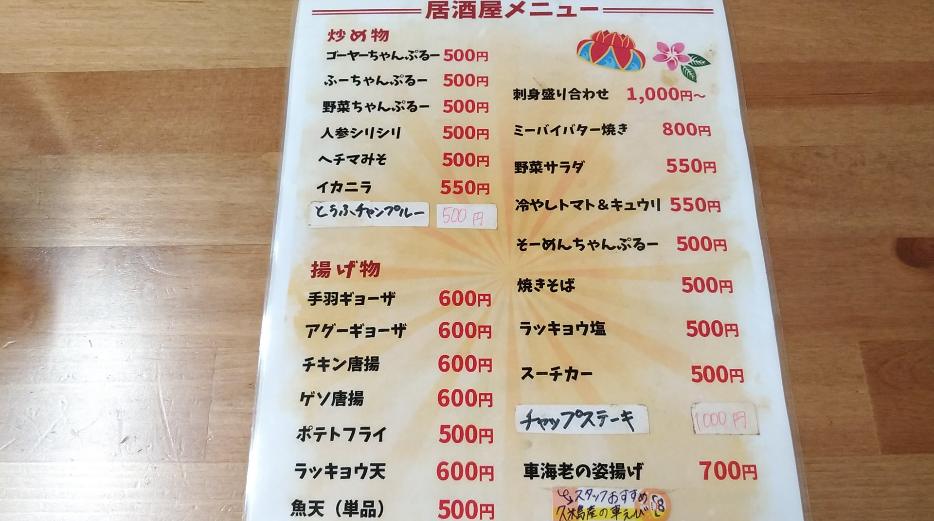 food menu of Shintenchi