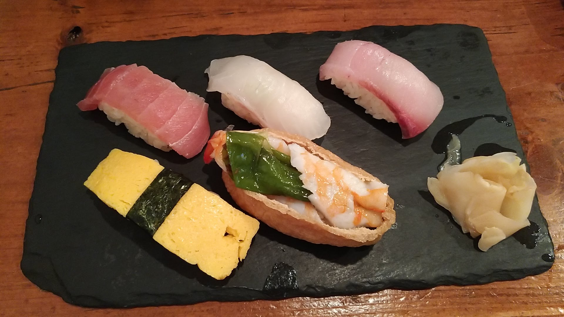寿司5貫盛